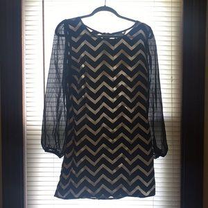 Short, Chevron dress